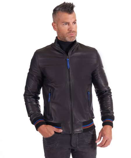 Black nappa lamb leather...