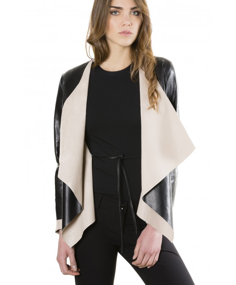 Monic • black colour • nappa lamb leather jacket smooth effect